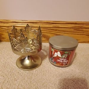 Bath & Body Works Candle and Holder